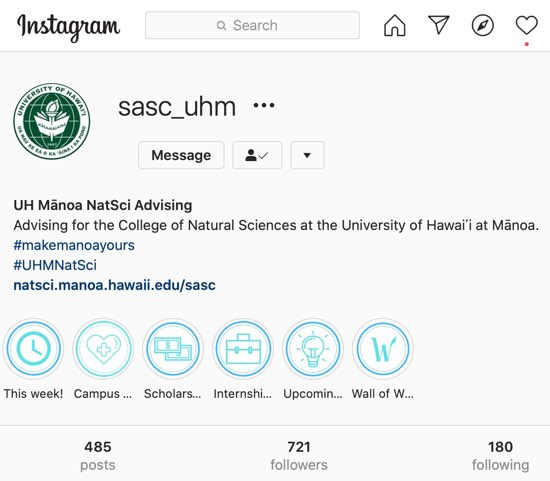 SASC Instagram Account
