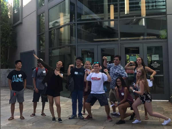 Welcome Day 2017 photo scavenger hunt at Stan Sheriff