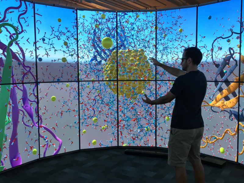 Lava lab displays