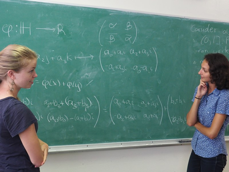 Equations on the chalkboard