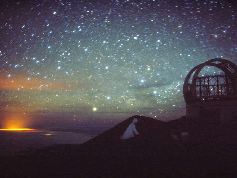 Night sky from observatory