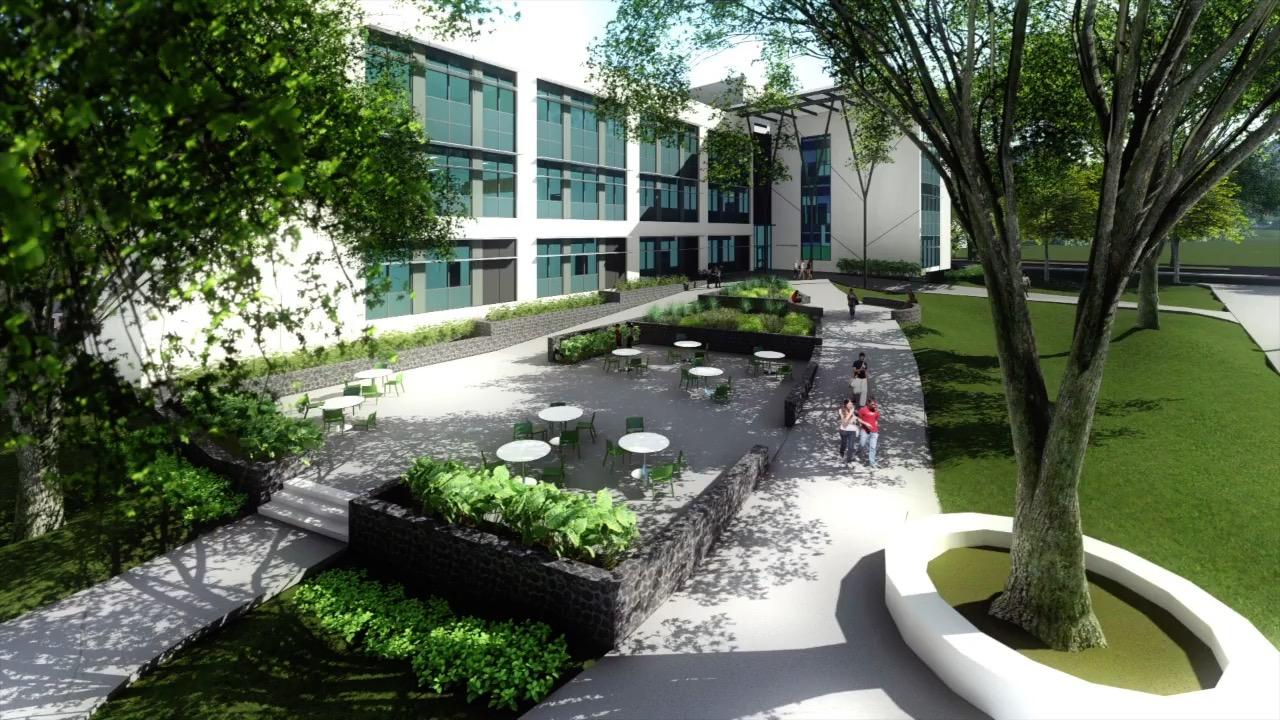 Life Sciences Building Courtyard