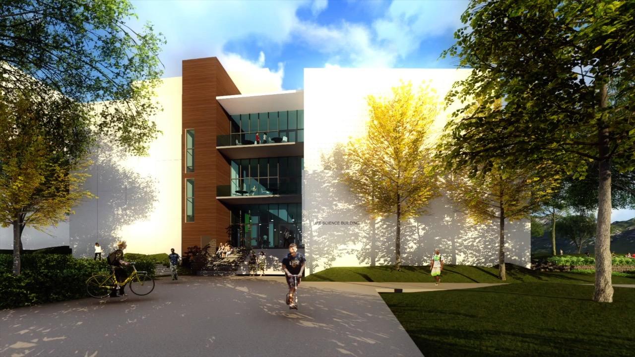 Life Sciences Building Side Entrance
